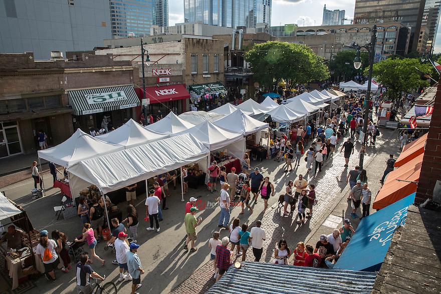 The pecan street festival is a popular arts crafts and for Arts and crafts festival
