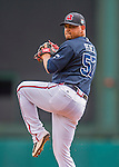 11 March 2016: Atlanta Braves pitcher Williams Perez on the mound during a Spring Training pre-season game against the Philadelphia Phillies at Champion Stadium in the ESPN Wide World of Sports Complex in Kissimmee, Florida. The Phillies defeated the Braves 9-2 in Grapefruit League play. Mandatory Credit: Ed Wolfstein Photo *** RAW (NEF) Image File Available ***