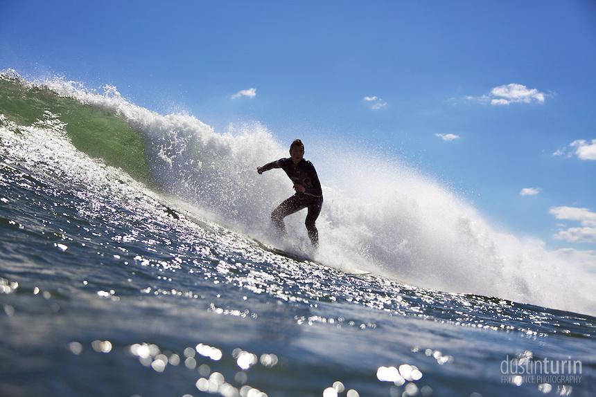 Surfer: Sawyer Theriault. Photo: Dustin Turin