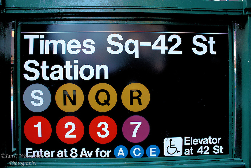 New York City Times Square Subway | Ian C Whitworth ...