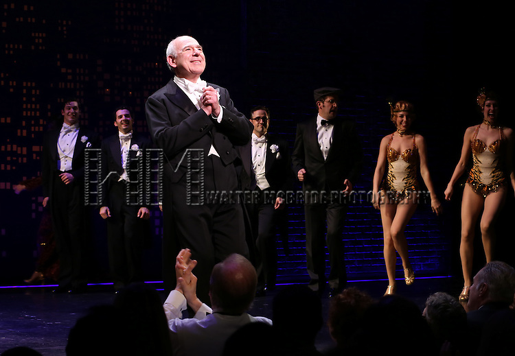 "Lenny Wolpe during the Broadway Opening Night Performance Curtain Call for ''Bullets Over Broadway'""at the St. James Theatre on April 10, 2014 in New York City."