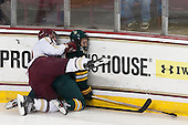 Bill Arnold (BC - 24), Kyle Reynolds (UVM - 9) - The Boston College Eagles defeated the University of Vermont Catamounts 4-1 on Friday, February 1, 2013, at Kelley Rink in Conte Forum in Chestnut Hill, Massachusetts.