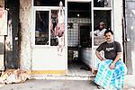 A butchers shop in Kolkata, India.