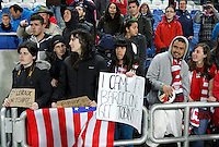 USA fans celebrate  after their Algarve Women's Cup soccer match final against Germany at Algarve stadium in Faro, March 13, 2013.  .