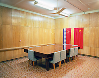 Conference room in a nuclear bunker used by Communist Party officials during the Cold War. The bunker lies nine metres below ground. CHECK with MRM/FNA