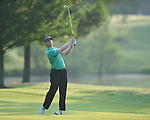 Golfer John Senden swings on the first hole at the PGA FedEx St. Jude Classic at TPC Southwind in Memphis, Tenn. on Thursday, June 9, 2011.