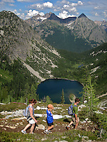 Maple Pass Hike - Lake Ann in the background.  Washington State's North Cascades.