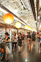 The former Nabisco bakery in New York, now the trendy Chelsea Market, is seen on Sunday, June 10, 2012. The owners of the building, Jamestown Properties, are proposing towers to be built over the existing block-long building on the Ninth and Tenth Avenue sides. The Nabisco bakery was converted into a food arcade and office building in the 1990's and is part of the revival of Chelsea and the Meatpacking District. (© Richard  B. Levine)