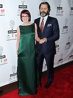 NEW YORK CITY, NY, USA - MAY 04: Megan Mullally, Nick Offerman at the 29th Annual Lucille Lortel Awards held at the NYU Skirball Center on May 4, 2014 in New York City, New York, United States. (Photo by Jeffery Duran/Celebrity Monitor)