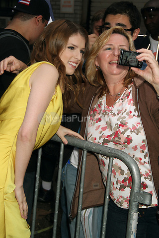 NEW YORK, NY - OCTOBER 4: Anna Kendrick at the Ed Sullivan Theater for an appearance on Late Show with David Letterman in New York City. October 4, 2012. © RW/MediaPunch Inc.
