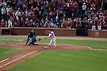 #23 David Freese's game winning walk off home run swing.  St. Louis Cardinals vs. Texas Rangers, Game 6 of the World Series 2011.  Cardinals won 10-9.