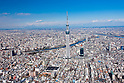 Aerial View of Tokyo Sky Tree taken on February 9th, 2012. Tokyo Sky Tree's height is 634m in March 2011.It became the tallest communications tower in the world. (Photo by Masanori Yamanashi/AFLO)