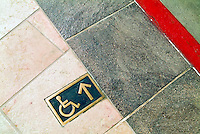 Architectural, Signage, Way finding Systems, stamped out of metal, lettering embossed, printed,