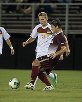 The Winthrop University Eagles played the College of Charleston Cougars at Eagles Field in Rock Hill, SC.  College of Charleston broke the 1-1 tie with a goal in the 88th minute to win 2-1.  Max Hasenstab (18), Brock King (15)