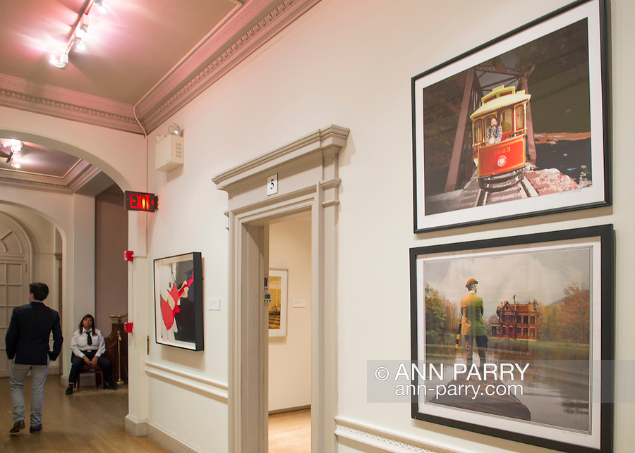 Roslyn Harbor, New York, USA, January 2, 2017. Second floor hall of Nassau County Museum of Art photography exhibitions covering over 100 years of photography.