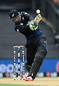 14.02.2015. Christchurch, New Zealand.  Martin Guptill batting during the ICC Cricket World Cup match between New Zealand and Sri Lanka at Hagley Oval in Christchurch, New Zealand. Saturday 14 February 2015.