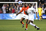 14 December 2007: Virginia Tech's Scott Spangler (8) and Wake Forest's Michael Lahoud (13). The Wake Forest University Demon Deacons defeated the Virginia Tech University Hokies 2-0 at SAS Stadium in Cary, North Carolina in a NCAA Division I Men's College Cup semifinal game.