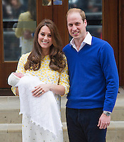 Prince William Kate, Duchess of Cambridge with their new born daughter - UK