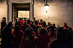 Members of the Brooklyn Tabernacle Choir arrive at the Russell Senate Office Building on Capitol Hill early in the morning before performing at President Barack Obama's inauguration on Monday, January 21, 2013 in Washington, DC.