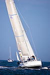 Delawana, class 15, sailing at the start of the Newport Bermuda Race 2010. The race started in Newport, Rhode Island on June 18, 2010.
