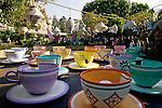 Disneyland rides Mad Tea Party ride Anaheim California USA