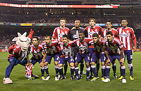 CD Chivas USA starting eleven.  Chivas USA and CD Chivas de Guadalajara played to 0-0 draw at Petco Park stadium in San Diego, California on Tuesday September 14, 2010.
