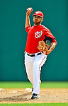 4 March 2011: Washington Nationals pitcher Brian Broderick in action during a Spring Training game against the Atlanta Braves at Space Coast Stadium in Viera, Florida. The Braves defeated the Nationals 6-4 in Grapefruit League action. Mandatory Credit: Ed Wolfstein Photo