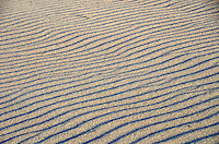 Strong winds create ripples on the beach in Santa Monica on Sunday, March 18, 2012..