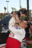 Carlos Mencia &amp; Son Lucas Pablo Mencia  at the  Toyota Pro/Celeb Race Day on April 18 ,2009 at the Long Beach Grand Prix course in Long Beach, California..&copy;2009 Kathy Hutchins / Hutchins Photo....                .