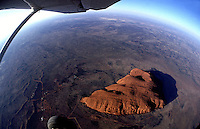 FISH EYE VIEW OVER AYERS ROCK