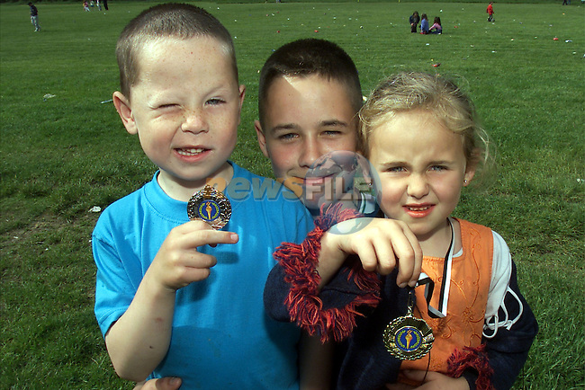 Dean, Ryan and Megan Hill pictured at the Rathmullen sports day..Picture:Arthur Carron