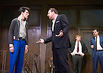 Mojo by Jez Butterworth, directed by Ian Rickson. With Colin Morgan as Skinny,  Brendan Coyle as Mickey, Rupert Grint as Sweets,  Daniel Mays as Potts,  Opens at The Harold Pinter Theatre  on 13/11/13  pic Geraint Lewis