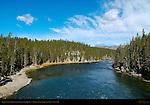 Yellowstone River from Chittenden Bridge, Yellowstone National Park, Wyoming