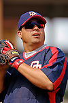 10 March 2006: Jose Vidro, second baseman for the Washington Nationals, prior to a Spring Training game against the Houston Astros. The Astros defeated the Nationals 8-6 at Osceola County Stadium, in Kissimmee, Florida...Mandatory Photo Credit: Ed Wolfstein..