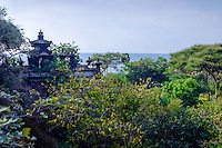 Bali, Buleleng. Northern Bali. The Pura Pulaki temple with a magnificient ocean view.