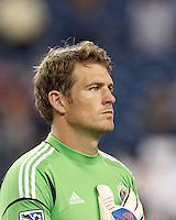 Chivas USA goalkeeper Dan Kennedy (1). In a Major League Soccer (MLS) match, the New England Revolution tied Chivas USA, 3-3, at Gillette Stadium on August 29, 2012.