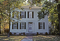 Alton: Phinney House, 445 E. 12th St., 1854. Transitional Georgian-Federal style. Photo '77.