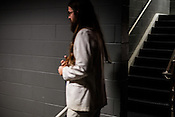 Matthew E. White making his way to the stage at Fletcher Opera Theater on Thursday September 6, 2012.