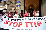 Stop TTIP, protesta davanti la rappresentanza del parlamento europeo a Roma