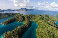 Hurricane Hole aerial<br /> St. John<br /> U.S. Virgin Islands