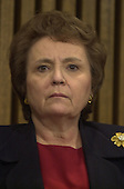 Washington, DC - February 20, 2001 -- U.S. Attorney Helen Fahey attended a press conference where FBI Director Louis J. Freeh announced that veteran FBI counterintelligence Agent, Robert Philip Hanssen, was arrested on Sunday, February 18, 2001 at Foxstone Park in Vienna, Virginia and charged with committing espionage by providing highly classified national security information to Russia and the former Soviet Union..Credit: Ron Sachs / CNP