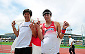 L to R Hiroki Ogita (JPN), Daichi Sawano (JPN), JULY 8, 2011 - Athletics :The 19th Asian Athletics Championships Hyogo/Kobe, Men's Pole Vault Final at Kobe Sports Park Stadium, Hyogo ,Japan. (Photo by Jun Tsukida/AFLO SPORT) [0003]