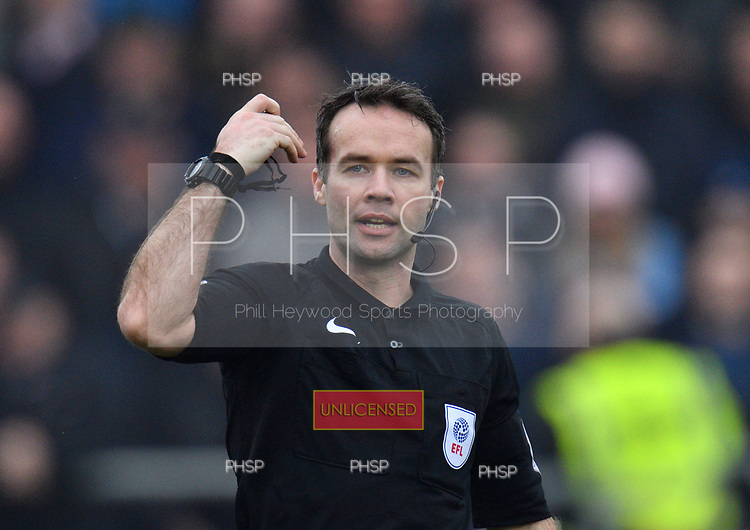 11/03/2017 Sky Bet League 1 Fleetwood Town v Bolton Wanderers<br /> <br /> Referee Paul Tierney