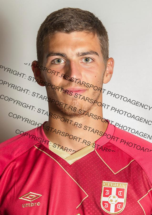 Fudbal U21 Srbija Portreti<br /> Beograd, 02.09.2015.<br /> Srdjan Babic<br /> foto: Srdjan Stevanovic/Starsportphoto &copy;