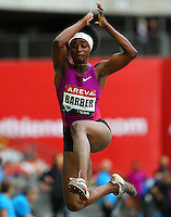 Eunice Barber at the Samsung Diamond League. Paris,France Friday, July  16, 2010. photo by Errol Anderson.