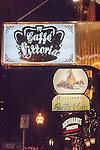 Café Vittoria in the North End, Boston, MA