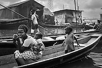 Every house has a boat, this is the only mode of transport, people live and work on boat.