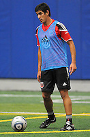 DC United defender Rodrigo Brasesco (3)  at the first official training session of the 2011 MLS season.  At Greenbelt Sportsplex, Friday January 28, 2011.