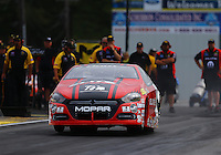 Jun 3, 2016; Epping , NH, USA; NHRA pro stock drover Erica Enders-Stevens during qualifying for the New England Nationals at New England Dragway. Mandatory Credit: Mark J. Rebilas-USA TODAY Sports