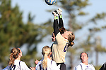 21 October 2012: Northwestern's Anna Cassell (00) punches the ball. The Northwestern University Wildcats played the University of Iowa Hawkeyes at Lakeside Field in Evanston, Illinois in a 2012 NCAA Division I Women's Soccer game. Northwestern won the game 1-0.